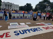 WASHINGTON DC - 3 de septiembre de 2017: Protestas del acto de DACA y del SUEÑO foto de archivo libre de regalías