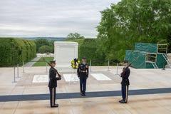 Washington DC de Tomb Arlington Cemetery do soldado desconhecido Fotos de Stock Royalty Free