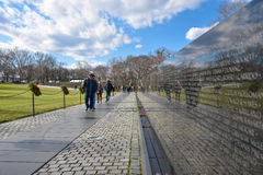 Washington DC, de V Het Gedenkteken van de Veteranen van Vietnam Stock Afbeeldingen