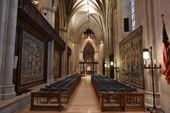 WASHINGTON DC, de V.S. - 17 MEI 2018 - Washington Cathedral-koepel historische kerk stock foto