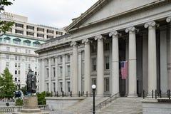 Washington DC del departamento del Tesoro foto de archivo