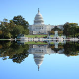 Washington DC del edificio del capitolio de los E.E.U.U. Imágenes de archivo libres de regalías