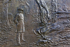 Washington DC del memoriale di guerra di generale Sherman Fire Bas Relief Civil Immagine Stock