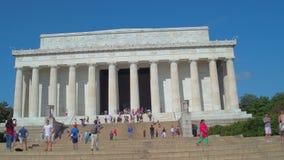 Washington DC del memoriale di Lincoln stock footage