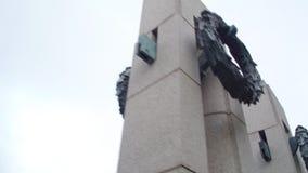 Washington DC del memoriale di WWII video d archivio