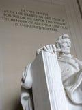Washington DC del monumento de Lincoln Imágenes de archivo libres de regalías