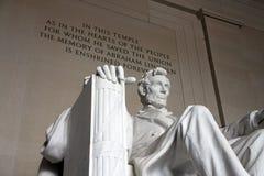 Washington DC del monumento de Lincoln Fotografía de archivo