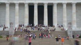Washington DC del monumento de Lincoln almacen de video