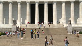 Washington DC del monumento de Lincoln almacen de metraje de vídeo