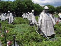 Washington DC del monumento de los veteranos de Guerra de Corea Imagen de archivo libre de regalías