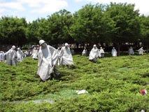 Washington DC del monumento de los veteranos de Guerra de Corea Fotografía de archivo