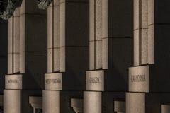Washington DC del monumento de WWII fotografía de archivo