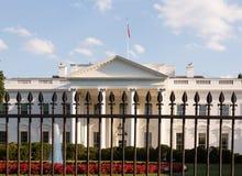 Washington DC della Casa Bianca dietro le barre Fotografia Stock Libera da Diritti