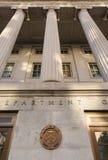 Washington DC della costruzione di Ministero del Tesoro Fotografia Stock