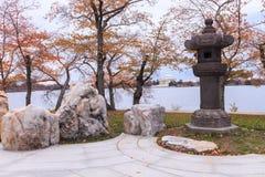Washington DC della lanterna giapponese in autunno Fotografie Stock Libere da Diritti