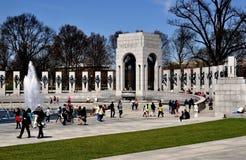 Washington, DC: Denkmal des Zweiten Weltkrieges Stockfotografie