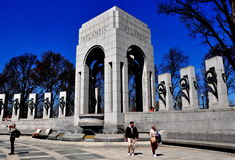 Washington, DC: Denkmal des Zweiten Weltkrieges Lizenzfreies Stockfoto
