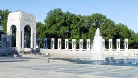 Washington, DC - Denkmal des Zweiten Weltkrieges und Brunnen Lizenzfreies Stockbild