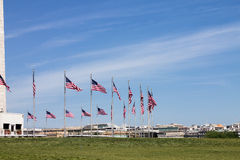 Washington DC der amerikanischen Flaggen Stockfotografie