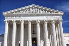Washington DC di giorno di Capitol Hill della Corte suprema degli Stati Uniti Immagine Stock