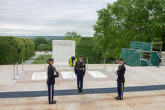 Washington DC di Tomb Arlington Cemetery del soldato sconosciuto Fotografie Stock Libere da Diritti