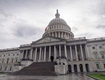 Washington DC, distretto di Columbia [costruzione del Campidoglio degli Stati Uniti Stati Uniti, tempo nuvoloso ombreggiato prima immagine stock libera da diritti