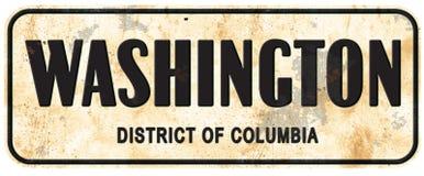 Washington DC District of Columbia Street Sign Vintage royalty free illustration
