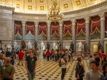 Washington DC, District van Colombia [het Capitool binnenlands, federaal district van Verenigde Staten, het centrum van de toeris stock foto