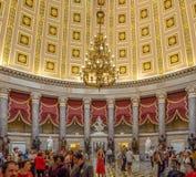 Washington DC, District van Colombia [het Capitool binnenlands, federaal district van Verenigde Staten, het centrum van de toeris royalty-vrije stock foto