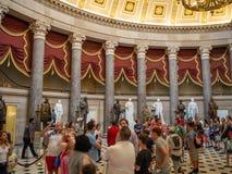 Washington DC, distrito de Columbia [interior del capitolio de Estados Unidos, distrito federal, centro turístico del visitante,  fotografía de archivo libre de regalías