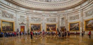 Washington DC, distrito de Columbia [interior do Capitólio do Estados Unidos, distrito federal, centro do visitante do turista, r foto de stock royalty free