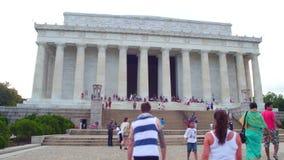 Washington DC do memorial de Lincoln vídeos de arquivo