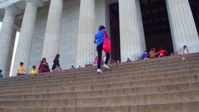 Washington DC do memorial de Lincoln video estoque
