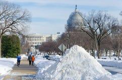 Washington DC dopo la tempesta della neve, gennaio 2016 Fotografie Stock Libere da Diritti