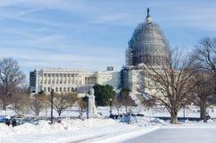 Washington DC dopo la tempesta della neve, gennaio 2016 Fotografia Stock Libera da Diritti