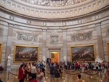 Washington DC, dystrykt kolumbii [Stany Zjednoczone Capitol wnętrze, obwód federalny, turystyczny gościa centrum, rotunda z fresk obraz royalty free