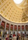 Washington DC, dystrykt kolumbii [Stany Zjednoczone Capitol wnętrze, obwód federalny, turystyczny gościa centrum, rotunda z fresk fotografia stock