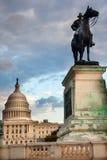 Washington DC conmemorativo de Capitol Hill de la estatua de los E.E.U.U. Grant Foto de archivo libre de regalías