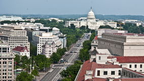 Washington DC - edificio capital - de arriba - lapso de tiempo almacen de video