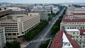 Washington DC - edificio capital - de arriba - lapso de tiempo almacen de metraje de vídeo