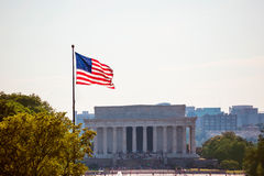 Washington DC edificio di Abraham Lincoln Memorial Fotografie Stock Libere da Diritti