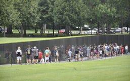 Washington DC, el 5 de agosto: Monumento de guerra nacional de la alameda de Washington District de Columbia Imagen de archivo libre de regalías