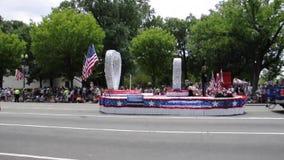 Washington DC, el 4 de julio de 2017: El desfile para el desfile del 4 de julio de Washington District de Columbia los E.E.U.U. almacen de metraje de vídeo