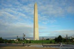 Washington DC, Estados Unidos - 27 de setembro de 2017: Opinião do amanhecer Washington Monument Imagem de Stock Royalty Free