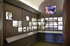 Washington DC, EUA Salão de entrada a Abraham Lincoln com as duas salas equipadas com as telas imagem de stock