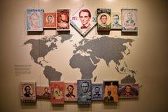 Washington DC, EUA Salão de entrada a Abraham Lincoln com emissão do selo postal imagem de stock royalty free