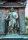 Washington DC för riddareGeneral John Logan Civil War Memorial Logan cirkel arkivfoton