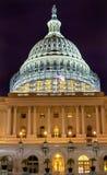Washington DC för stjärnor för natt för konstruktion för södra sida för USA-Kapitolium Arkivbilder