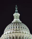 Washington DC för stjärnor för natt för kupol för sida för USA-Kapitoliumnorr Arkivfoto