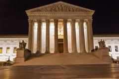 Washington DC för stjärnor för USA-högsta domstolenCapitol Hill natt Fotografering för Bildbyråer